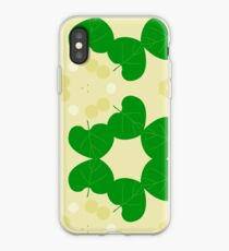 leaves texture seamless colorful repeat pattern iPhone Case