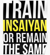 Train Insaiyan Or Remain The Same Poster