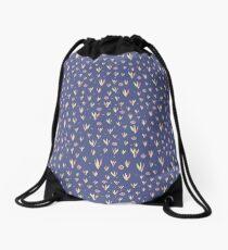 Ditsy Dot Flowers & Grass Drawstring Bag