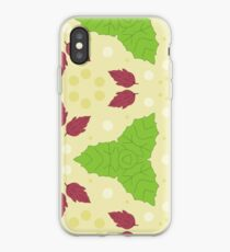 texture leaves pattern seamless colorful repeat pattern iPhone Case