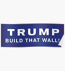 United States President Donald Trump Build That Wall! Poster