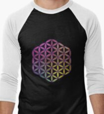 Flower of Life Sacred Geometry Men's Baseball ¾ T-Shirt