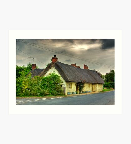 Thatched Country Cottage - Harome Art Print