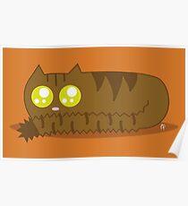 Brown Tabby Chibi Cat Poster