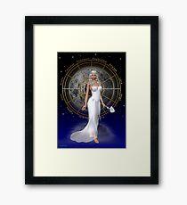 Arianrhod .. moon goddess Framed Print