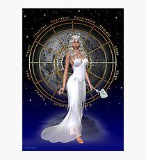 Arianrhod .. moon goddess Photographic Print