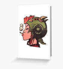 Tank Girl - Profile Greeting Card