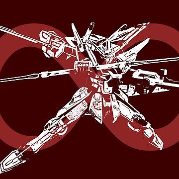 Infinite Justice Gundam #4 - Red - Gundam SEED Destiny by saintism
