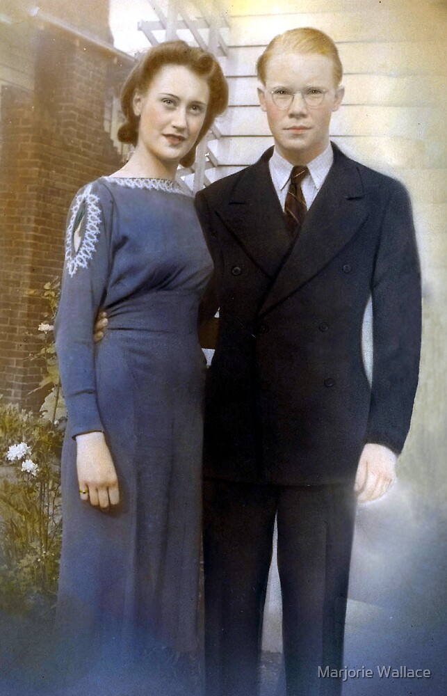 My Parents in early 40's by Marjorie Wallace