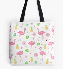 Flamingos - Tropical Pattern Tote Bag