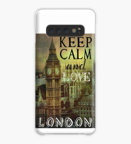 Keep calm and love London Case/Skin for Samsung Galaxy