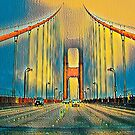 Golden Gate Bridge (Blue/Yellow Theme) by Joe Lach