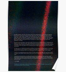 Pale Blue Dot - Voyager 1 ⛔ HQ quality Poster