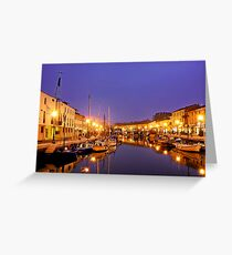 Cesenatico - Canal Harbour Greeting Card