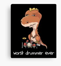 Wort Drummer Ever Canvas Print
