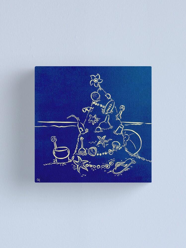 Alternate view of Australian Christmas in Blue Canvas Print