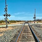 Desert Railway Crossing by Joe Lach