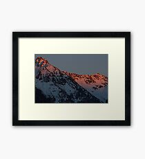 Red Skies in the Morning Framed Print