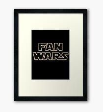 Fan Wars Framed Print