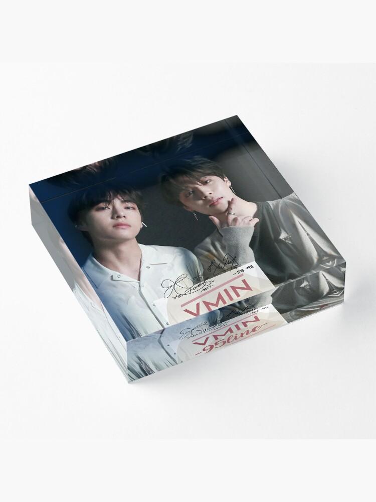 Alternate view of BTS V JIMIN (VMIN) Acrylic Block
