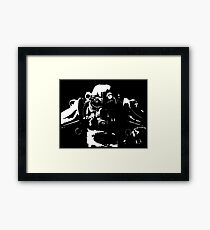 Fallout 3, Fallout New Vegas, Fallout 4 - T45 Power Armour Silhouette Framed Print