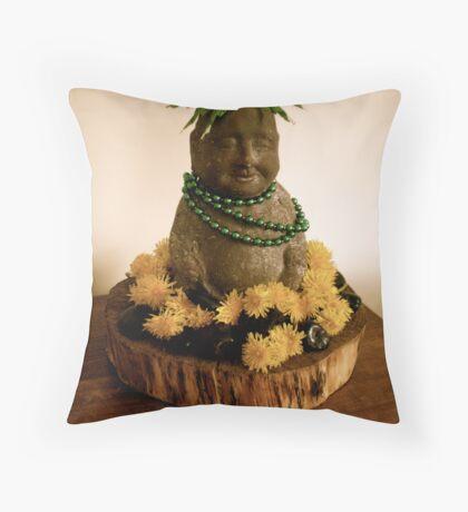 Dandelion Buddha Throw Pillow