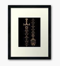Lámina enmarcada Juego de dados poliédricos Juego de rol de espada y flecha para mesa