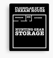 Hunting Dream House Canvas Print