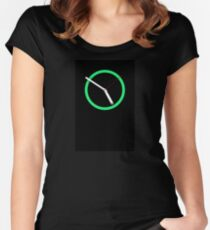 Green Clock Women's Fitted Scoop T-Shirt