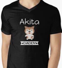 Akita Daddy Men's V-Neck T-Shirt