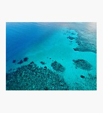 Coral Reef and Turquoise Water  Photographic Print