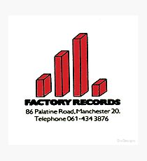 Factory Records Photographic Print