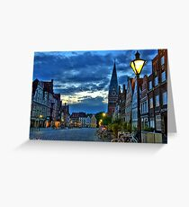 Lüneburg in the Morning Greeting Card