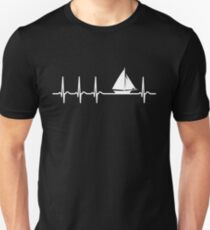 Heartbeat Sailing T-Shirt - Cool Funny Nerdy Heartbeat Sailor Sailing Club Sailboat Instructor Humour Statement Graphic Image Quote Tee Shirt Gift Unisex T-Shirt
