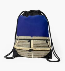 Blue, brutal ,beautiful  Drawstring Bag