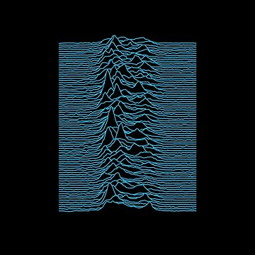 Joy Division - Unknown Pleasures [Blue Lines] by hein77