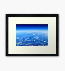 The Earth from above Framed Print