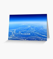 The Earth from above Greeting Card