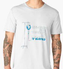 Swimming Lovers - Chlorine runs through my veins Men's Premium T-Shirt