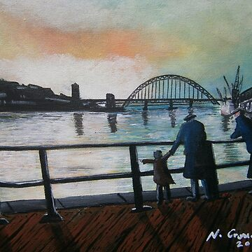 Newcastle, Tyne Bridge 1960'a  by CrossanArt