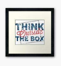 Think Outside The Box, Creative, Gift, Funny Design, Creative Design, Funny Shirt, Funny Sticker, Funny Art, fashion, graphic art, women graphic tee, best tee shirt Framed Print