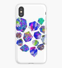 Wonderland Garden Tumbling Rocks - Blue iPhone Case
