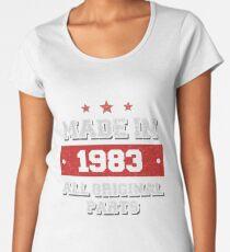 Made in 1983 - All Original Parts Birthday Gift Women's Premium T-Shirt