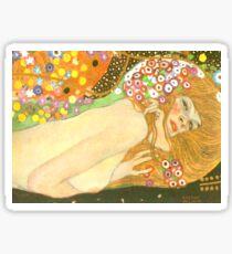 """Gustav Klimt """"Water Serpents"""" (detail) Sticker"""