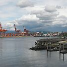 Industry on Water, Vancouver Canada by Anthea  Slade