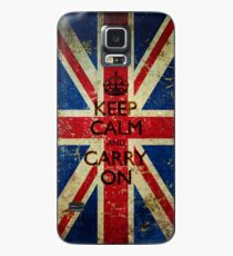Grunge Keep Calm and Carry On Union Jack Case/Skin for Samsung Galaxy