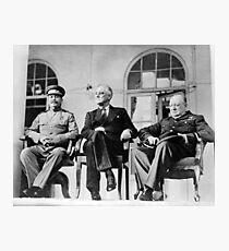 The Big Three - WW2 - Tehran Conference 1943 Photographic Print