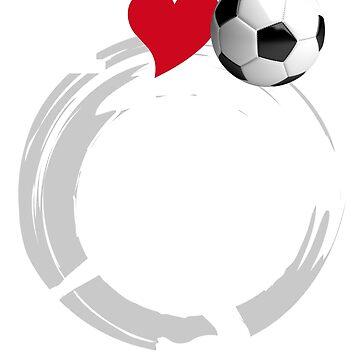 love soccer football wm russia 2018 ball goal fan 11 meters away love heart germany flag german bavaria löw by originalstar