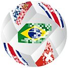 Football ball with flags by siloto
