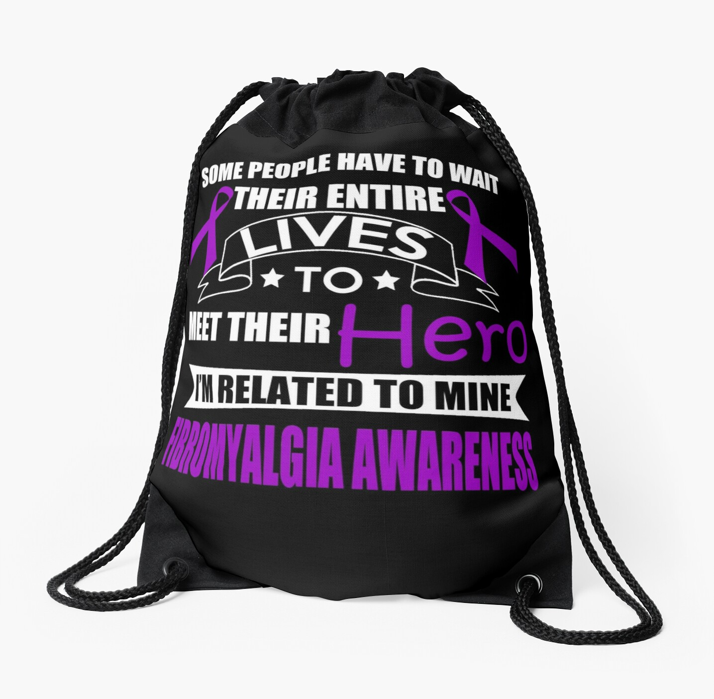 Related to my Hero! Family Fibromyalgia Awareness by AwarenessMerch